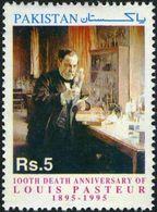 Pakistan 1995 Stamps Louis Pasteur Microbiologist Medicine Rabbies MNH - Louis Pasteur