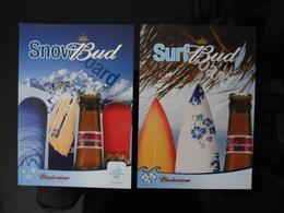 BUDWEISER Bier Lot De 2 Cartes Postales - Advertising