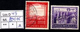 Los D49: DR Mi. 804/05, Gest. - Deutschland