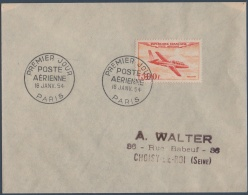 PA N°_32 TYPE PROTOTYPES 500F. MAGISTER, TIMBRE POSTE AERIENNE 1954 OBLITERE 1er JOUR - Poste Aérienne