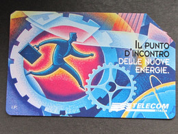 ITALIA TELECOM 2973 C&C 872 GOLDEN - BARI 62^ FIERA DEL LEVANTE LIRE 5.000 - USATA MAGNET. ORIG. TELECOM - Italia