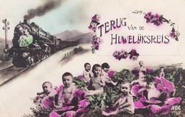 """Baby's Bébés, Humour, Baby's And Coal, """"terug Van De Huwelijksreis"""", Back From Honeymoon (pk43856) - Cartes Humoristiques"""
