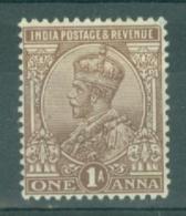 India: 1922/26   KGV      SG197    1a       MH - India (...-1947)