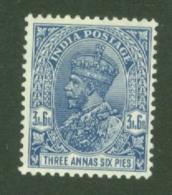 India: 1932/36   KGV      SG238w    3a 6p  [Wmk Inverted]   MH - India (...-1947)