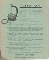 Document Commercial Tarif - FIXATOR - Vulcanisation à Chaud - Pneu Véhicules Automobiles - Robert & Lucizn KAHN - PARIS - France
