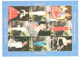 Lady Diana Burkina Faso Sheet Mnh Nsc ** - Burkina Faso (1984-...)