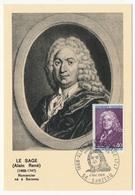 FRANCE => Carte Maximum - 0,40 Alain LESAGE - Sarzeau 1968 - Cartes-Maximum