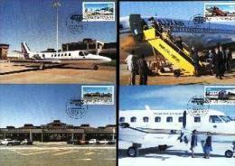 BOPUTHATSWANA, 1986,  Bop Airways,   Mint Maxicards, Nr(s.) 37-40 - Bophuthatswana