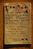 Rationnement - Carte De Tabac Chalons Sur Marne - Historical Documents