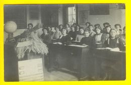 CARTE PHOTO FOTOKAART ECOLE CLASSE FILLE ETUDE KLAS SCHOOL FOTO MEISJE ENFANT CLASS ENSEIGNEMENT ONDERWIJS PROF    564 - Ecoles
