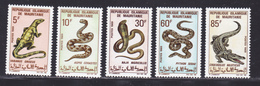 MAURITANIE N°  263 à 267 ** MNH Neufs Sans Charnière, TB (D5568) Animaux, Reptiles, Sauriens - Mauritanie (1960-...)
