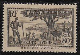 COTE D'IVOIRE 1938 YT 122A** MNH - Côte-d'Ivoire (1892-1944)