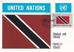 United Nations New York 1981 Flagseries Trinidad And Tobago   (DD15-41) - Briefe