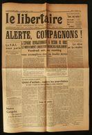 ( Anarchie Guerre D'Espagne )  LE LIBERTAIRE 1937 F.A.I. - Histoire