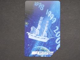 ITALIA 2831 C&C 769 GOLDEN - GENOVA VERSO IL 2000 SAILBOAT - USATA MASSIMA QUALITA' MAGNETIZZAZIONE ORIGINALE TELECOM - Barche