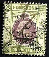 HONG KONG BRITISH KEVII HEAD BLACK $1 UHD 1904 SG86 READ DESCRIPTION CAREFULLY !! - Gebraucht