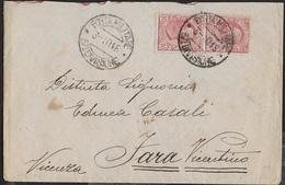 POSTA MILITARE Ia GUERRA - BUSTA DA 37a DIVISIONE (ALA) (p.2) 03.10.1916 PER FARA VICENTINO - Correo Militar (PM)