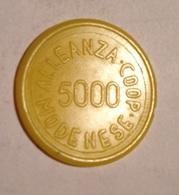 TOKEN JETON GETTONE SUPERMERCATO COOPERATIVA MODENESE 5000 LIRE COOP - Monetary/Of Necessity