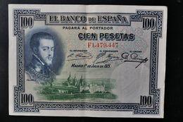 Spain . 100 Pesetas 1925 . Republica - [ 1] …-1931 : First Banknotes (Banco De España)