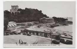 MONTE CARLO - N° 345 - LE BEACH AVEC PISCINE ET L' HOTEL - VIEILLES VOITURES - CPA NON  VOYAGEE - Monte-Carlo