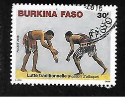 TIMBRE OBLITERE DU BURKINA DE 2008 N° MICHEL 1905 - Burkina Faso (1984-...)
