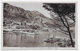 MONTE CARLO - N° 843 - VUE PRISE DE MONACO DEPUIS LE PORT AVEC BATEAUX - CPA NON VOYAGEE - Harbor
