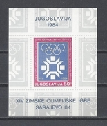 YOUGOSLAVIE . YT Bloc 21 Neuf **  Jeux Olympiques D'hiver à Sarajevo 1983 - Blocs-feuillets