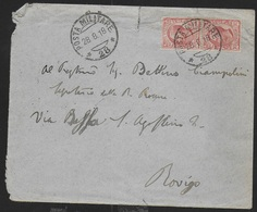 POSTA MILITARE Ia GUERRA - BUSTA DA PM 28 (ALA) (p.1) 28.08.1918 PER ROVIGO - Poste Militaire (PM)