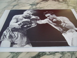 PHOTOGRAPHIE MARCEL CERDAN ET TONY ZALE 1948 - Boxing