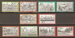 Allemagne Fédérale - 1970/3 - Tourisme - Petit Lot De 10° - Nuremberg - Bremen - Aachen - Hamburg - Heligoland - Cochem - Kilowaar (max. 999 Zegels)