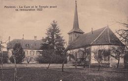 Mézières, 4 Cartes / La Cure, Le Temple Avant Restauration De 1922 - VD Vaud