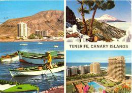 Canaries - Tenerife - Multivues - John Hinde Nº 2CT181 - Ecrite, Timbrée - 5051 - Tenerife