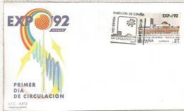 SEVILLA FDC EXPO 92 PABELLON DE ESPAÑA - 1992 – Sevilla (España)
