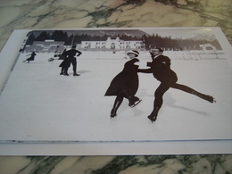 PHOTOGRAPHIE PIERRE BRUNET ET ANDREE JOLY JO DE CHAMONIX 1924 - Winter Sports