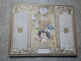 Superbe Calendrier Almanach Des Postes Des Télégraphes 1904 Enfants Jeux  Armée Terriroriale - Calendars