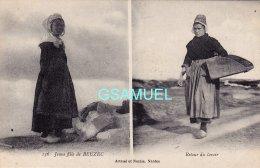 29 - Jeune Fille De Beuzec – Retour Du Lavoir – Artaud Nantes. - (voir Scan). - Beuzec-Cap-Sizun