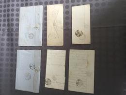 FRANCE TIMBRE CLASSIQUE LETTRE ENVELOPPE COURRIER LOT VRAC NAPOLEON CERES CACHET OBLITERATION TARIF AFFRANCHISSEMENT - Marcophilie (Lettres)