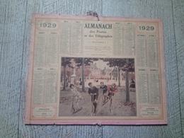 Calendrier Almanach Des Postes Des Télégraphes 1929 Course De Trottinettes Enfants Beuzon - Calendriers