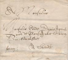 ZZ213 - SUPERBE Lettre Complète 1643 - RARE Francq Vers GAND - Signée Perfyn - 1621-1713 (Spanish Netherlands)