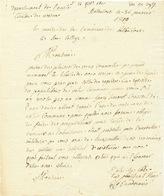 ZZ214 - Document 1810 De BETTENCOUR ( Auj. BETTINCOURT) , Canton De WAREMME . Conscrit Simonet , An 12 - 1794-1814 (Période Française)