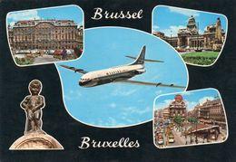 Groeten Uit Brussel Met Sabena Vliegtuig - Brussel Nationale Luchthaven