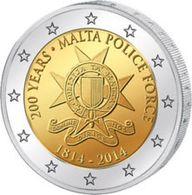 2 € Commémorative Malte 2014 Police- UNC - Malte