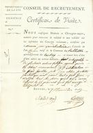 ZZ215 - Document An 13 BRUGES - Certificat Médical Conscrit Vandebrabande - Commune De Rubbelke = RUMBEKE - 1794-1814 (Période Française)