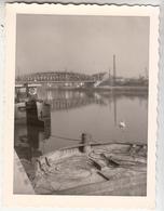 Pontoise - Pont - Péniches - 1963 - Photo Originale Format 9 X 11.5 Cm - Lieux