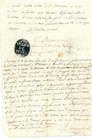 """ZZ216 -Papier Fiscal République Française - Procès Verbal An 13  Cachet En Négatif """" Village De REVES"""" - 1794-1814 (French Period)"""