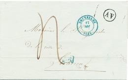 ZZ218 - Lettre Précurseur BRUXELLES 1843 Vers LOKEREN - Boite AV (AUDERGHEM) - RARE EN NOIR - 1830-1849 (Belgique Indépendante)
