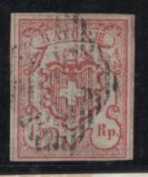 Svizzera  1852 Unif. 23 O/Used VF/F Cert.Oliva - 1843-1852 Poste Federali E Cantonali