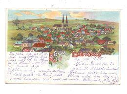 SUDETEN - PHILIPPSDORF / FILIPOV, Lithographie Gesamtansicht, 1903 Nach Bars Am Inn Befördert - Sudeten