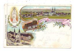 SUDETEN - PHILIPPSDORF / FILIPOV, Lithographie Gesamtansicht, Wallfahrtskirche, Gnadenhaus, 1901 Nach Josefov Befördert - Sudeten