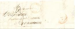 ZZ220 - Lettre Précurseur CHIMAY 1847 Vers CERFONTAINE Via PHILIPPEVILLE - Signée Jacquart - 1830-1849 (Belgique Indépendante)